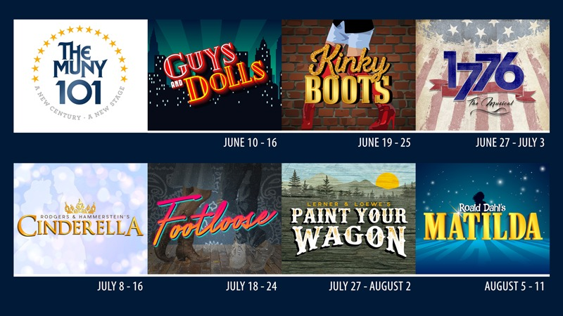 The 101st season of the Muny with dates